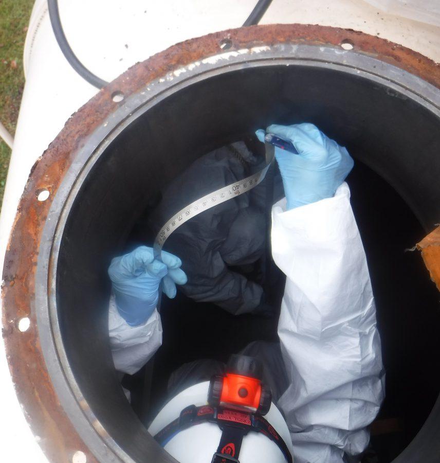 在日米軍基地関連事業 燃料タンク清掃、内部容量計測